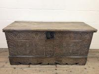 Antique Carved Oak Coffer or Blanket Box (3 of 11)