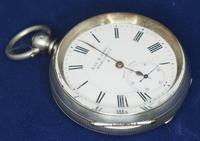 Antique Silver Pocket Watch Keyless Wind Open Face Pocket Watch Kay & Comp (4 of 10)