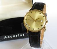 Gents 9ct Gold Accurist Wrist Watch, 1965 A483