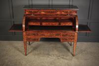 Beautiful Large Flame Mahogany Cylinder Desk (20 of 30)