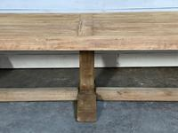 Enormous French Bleached Oak Farmhouse Dining Table (36 of 38)