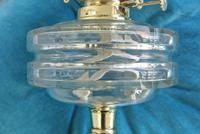 Original Victorian Cut Glass & Brass Oil Lamp - c.1900 Working Order (7 of 7)