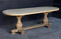 Large French Bleached Oak Monastery Dining Table (3 of 18)