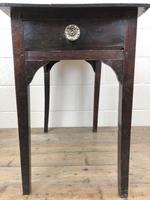 Antique Georgian Oak Side Table with Drawer (7 of 13)