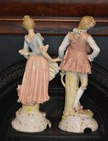 Substantial Pair of Late 19th Century, Continental Porcelain Figures (4 of 5)