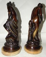 Pair of Victorian Bronzes - Diana Bathing (2 of 9)