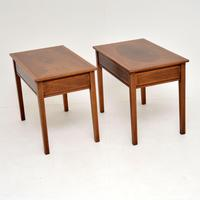 Pair of Antique Inlaid Mahogany Side Tables (6 of 12)