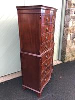 Quality Mahogany Serpentine Chest on Chest (5 of 11)
