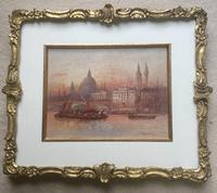 FrederickFREDERICK E.J.Goff Pair of Watercolours 'Westminster from the South West & London Bridge (2 of 5)