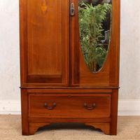 Edwardian Wardrobe Inlaid Mahogany Mirrored (5 of 10)