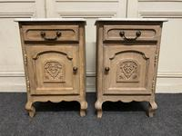 Pair of French Bleached Oak Bedside Cupboards (8 of 13)