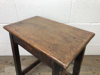 Antique 18th Century Oak Stool (4 of 10)