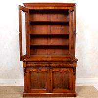 Library Glazed Bookcase Mahogany 19th Century Victorian Display Cabinet (6 of 11)