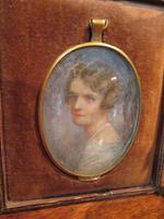 Antique Miniature Portrait in Original Case (2 of 9)