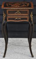 Striking 19th Century French Ebonised & Marquetry Side Table c.1880 (2 of 16)