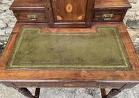 Antique Rosewood Inlaid Writing Desk (5 of 19)