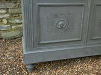 Imposing 19th Century French Glazed & Painted Bookcase Cabinet (7 of 10)