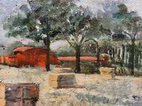 Lovely Original 20th Century Vintage Impressionist Harvest Haystack Landscape Painting (8 of 12)