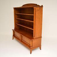 Antique Swedish Biedermeier Satin Birch Bookcase (9 of 12)