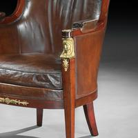 Pair of 19th Century Gilt Bronze Mounted Moroccan Leathered Armchairs, Maison Lalande (2 of 6)