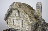 Vintage Mid Century Shell Grit and Concrete Watermill Birdbath (7 of 12)