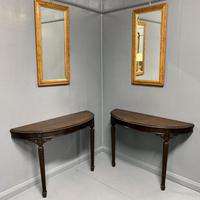 Pair of Wall Mounted Demi Lune Console Tables (5 of 6)