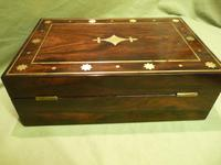 Regency Style Inlaid Rosewood Jewellery – Table Box c.1830 (9 of 11)