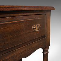 Antique Dresser Base, English, Oak, Side, Hall, Table, Late Georgian c.1800 (10 of 10)