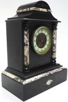 Very Fine French Slate & Marble Mantel Clock 8 Day Striking Mantle Clock (7 of 10)