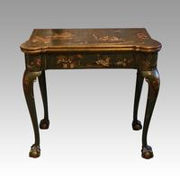 Antique Chinoiserie Card Table