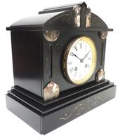Fine Antique French Slate Mantel Clock - Bell Striking 8-day Mantle Clock c.1900 (9 of 12)