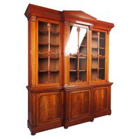 Antique George IV Mahogany Breakfront Library Bookcase (2 of 14)