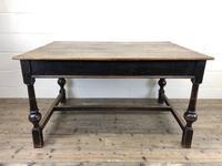 Victorian Oak Farmhouse Table