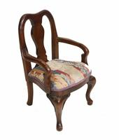 Set of Antique Child Chairs Chippendale Queen Anne (9 of 16)