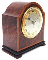 Impressive Amboyna Burr Walnut Edwardian Timepiece Mantel Clock by Dent London (3 of 10)