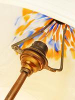 An Unusual Stylised Maiden Art Deco Table Lamp & Shade C.1920's (8 of 11)