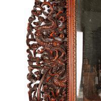 Chinese Red Cedar Framed Mirror (2 of 8)