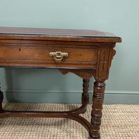 Quality Walnut Maple & Co Antique Writing Table (2 of 7)