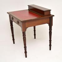 Antique Victorian Mahogany Leather Top Desk / Writing Table (2 of 13)