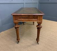 Very Good Victorian Burr Walnut Writing Table (10 of 16)