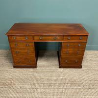 Fine Quality Victorian Mahogany Antique Pedestal Desk (7 of 7)