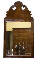 Queen Anne Style Walnut Cushion Mirror (2 of 4)