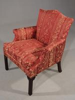 Handsome Early 20th Century Chippendale Style Mahogany Framed Gainsborough Chair (2 of 4)