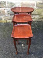 Antique Mahogany Nest of 3 Tables (8 of 8)
