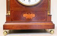 Mahogany & Inlay Bracket Clock (9 of 11)