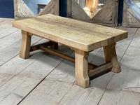 French or Scandinavian Bleached Oak Coffee Table (3 of 15)