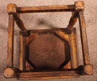 French Stool in Oak - 17th Century (9 of 10)