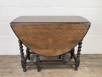 Early 20th Century Antique Oak Gateleg Table (4 of 12)
