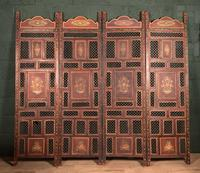 Handpainted Moroccan 4 fold screen (5 of 19)