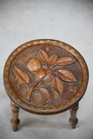 Carved Country Tripod Stool (8 of 9)